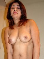 Busty older Asian hard pussy toying